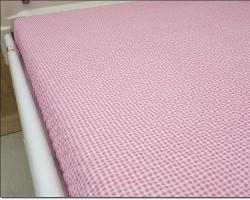 잔체크 핑크 - 면혼방
